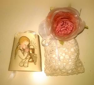 Bomboniere Solidali Comunione Bambina Originali Rosa